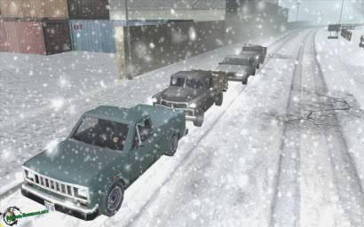 Зимняя дорога в Сан Андреас