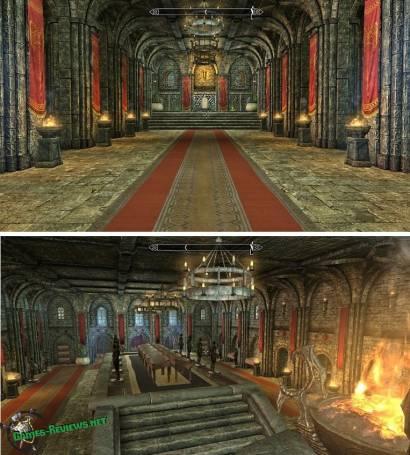 Залы замка