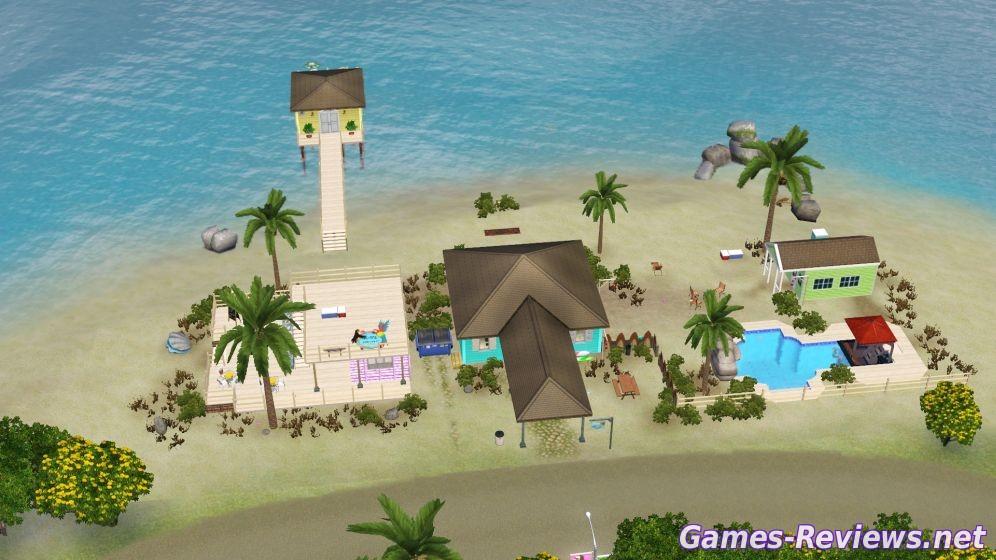 курорт в Симс 3