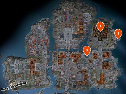 Карта квеста То, что доктор прописал с отметками