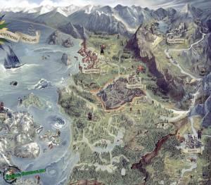 Интерактивная карта Скеллиге, Велен и Каэр Морхена для Ведьмак 3