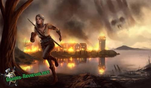 Арт побега Цири от Дикой Охоты